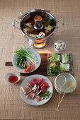 Mongolian meat fondue