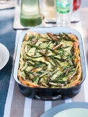 Pea and asparagus lasagne