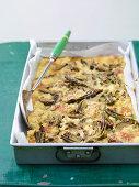 Carciofi al forno con parmigiano (oven-roasted artichokes with Parmesan, Liguria, Italy)