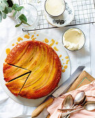 Banana, condensed milk and golden syrup cake