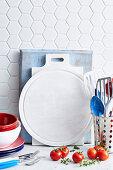 Kitchen utensil background