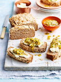 Coconut Almond Bread with Passionfruit Chia Jam (gluten-free)