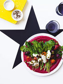 Roasted beetroot and goat's cheese salad