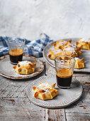 Casadinas (Sardinian ricotta and pecorino tarts)