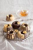 Banana and chocolate cakes