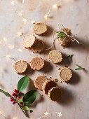 Scamorza and walnut shortbreads