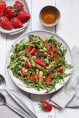 Strawberry asparagus salad with arugula