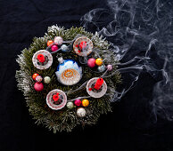 Advent wreath with blown out candles