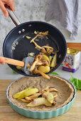 Quiche - making process