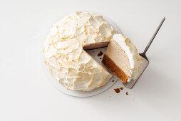 Gratinated ice cream coffee cake