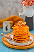 Pumpkin fritters pancakes