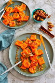 Pumpkin gnocchi with nuts