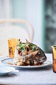 Crispy fried baby snapper (Hotel Esplanade, Melbourne, Australia)