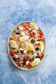 Italian summer rice salad