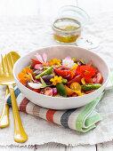 Oriental colorful tomato salad