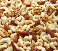 Nut kernel mixture (filling the picture)