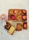 Apple, Plum and Naartjie upside down Cake