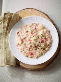 Redcurrant risotto with Camembert