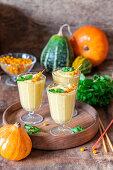 Pumpkin seabuckthorn smoothies