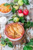 Apfelkuchen mit flüssigem Teig