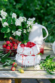 Pavlova with strawberries