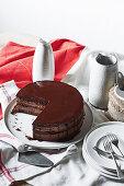 Chiswick chocolate and orange cake