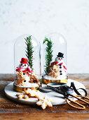Edible Christmas snow domes