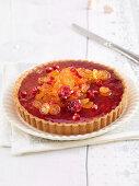 Pomegranate and kumquat tart