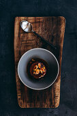 Sticky Toffee Pudding with Pecan Nuts and Toffee Sauce