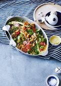 Zucchini, chickpea and turmeric salad