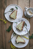 Vegan lemon coconut cake