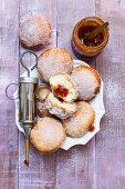 Vegan donuts with rosehip jam