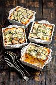 Vegetarian moussaka with lentils