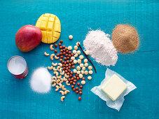 Ingredients for mango crumble