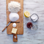 Baking ingredients for biscuits