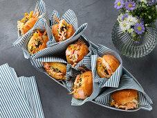 Mini salmon sandwiches