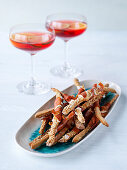 Sesame breadsticks with parma ham