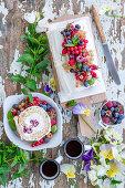 Summer berry quark roll