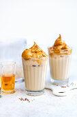 Dalgona Coffee - Airy coffee foam with cold milk