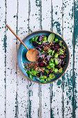 Beetroot Lentil salad with Herbs
