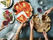 Italienische Pizza-Spezialitäten