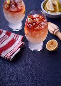 Orange liqueur and ginger beer cocktail