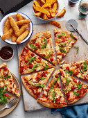 Pizza with arugula