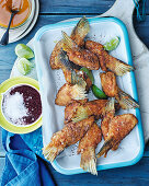 Salmon wings with mango chutney