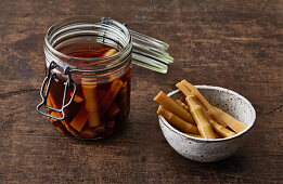 Pickled bamboo shoots for ramen bowls
