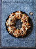 Blueberry pie hot cross buns