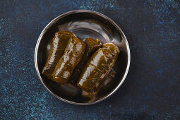 Traditional Middle Eastern dish Dolma in vine leaves
