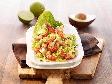 Avocado-Flusskrebs-Salat