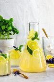 Lavender basil lemonade