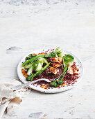 Hot-smoked salmon and rice salad